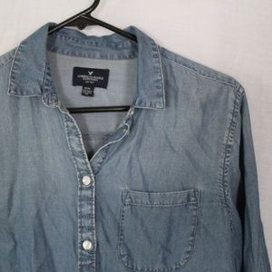 Denim Colored Button-up Shirt